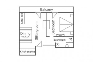 Room map of the apartment Moon