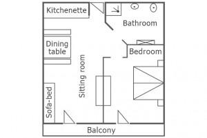 Room map of the apartment Sun